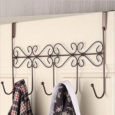 Luxury 5 Hooks Hanger Towel Hat Coat Clothes Wall Hook Over Door Bathroom