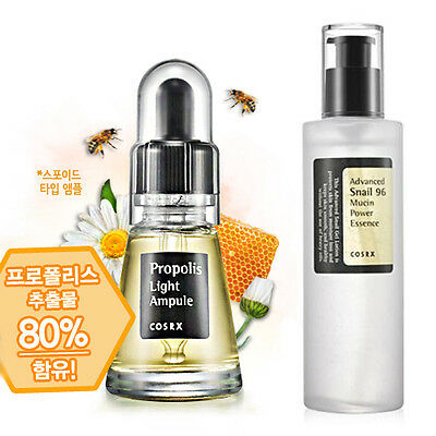 [SET] [Cosrx] Propolis Light Ampule + Advanced Snail 96 Mucin Power Essence
