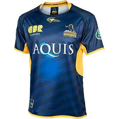 ACT Brumbies Home Jersey Sizes 2XL-3XL & Kids 8 ONLY! Official Super Rugby! 6