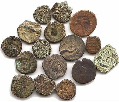 LOT of 16 Various Bronze Coins