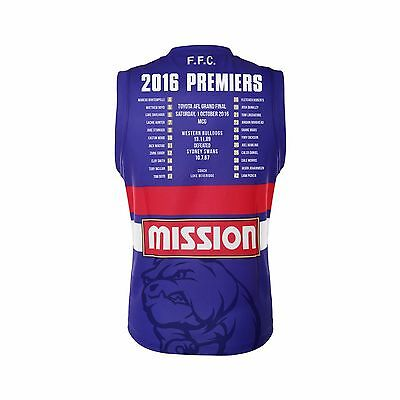 Western Bulldogs BLK AFL 2016 Premiers Guernsey Adults & Kids Sizes! Last chance