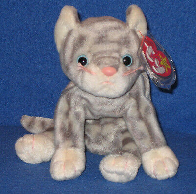 TY SILVER  the CAT BEANIE BABY - MINT with MINT TAGS