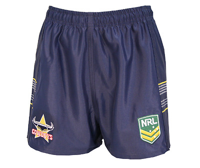North Queensland Cowboys NRL 2018  Home Supporters Shorts Adults & Kids Sizes!