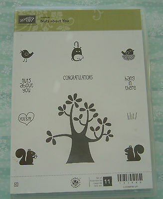 Stampin'Up retired Nuts About You clear mount stamp set - excellent condition