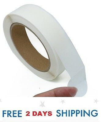 """1000 Clear 1"""" Inch Round Circle Wafer Sticker Labels Package Seal Tab Roll Ship"""