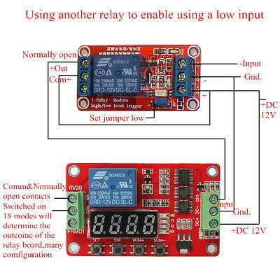 12V DC Multifunction Self-lock Relay PLC Cycle Timer Module Delay Time Switch HK