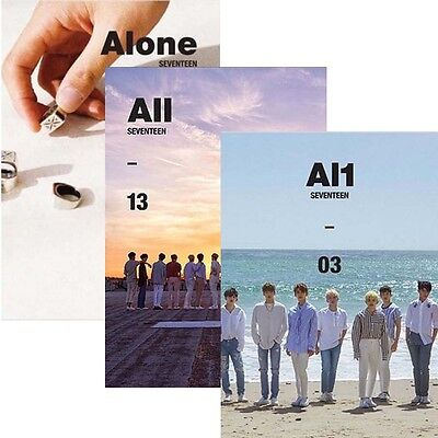 KPOP SEVENTEEN Al1 4th Mini Album [ Alone 01 , Al1 03 or All 13] Music CD