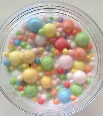 trix cereal fluffy milk rainbow beads slime/ floam
