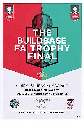 FA TROPHY & VASE  FINAL 2017 York v Macclesfield & South Shields v Cleethorpes