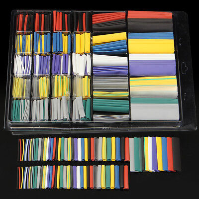 500Pcs Halogen-Free 2:1 Heat Shrink Tubing Wire Cable Sleeving Wrap Wire Set