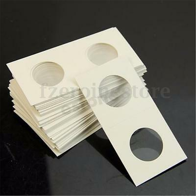 50Pcs Stamp Coin Cardboard Holders Storage Paper Bag Case 17.5-40mm All Sizes