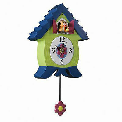 Clock Coo Kids Wall Hanging Different Animals,meow Coo,