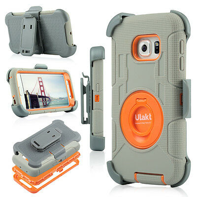 Shockproof Hybrid Rugged Holster Cover Stand Clip For Samsung Galaxy S6 Edge