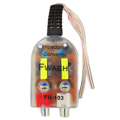 UK Car Speaker High to Low Transfer Impedance Converter Amplifier Line Out