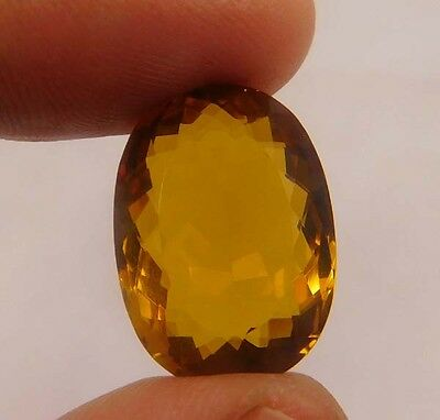 17 Cts. Natural Faceted Cushion Shape Citrine Quartz Cut Cabochon Gemstone(ND570