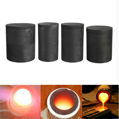 5 Sizes Pure Graphite Crucible Casting Foundry Melting Gold Silver Copper Tool