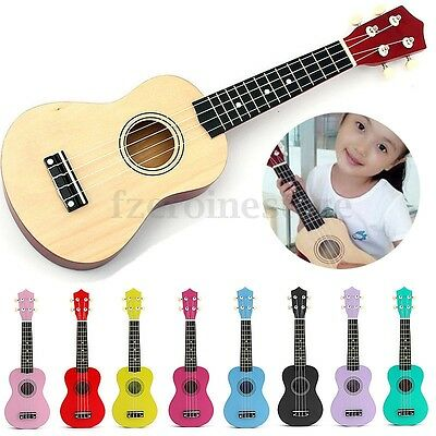 21'' Ukulele Mini Acoustic Soprano Guitar 4-String Musical Instrument Basswood
