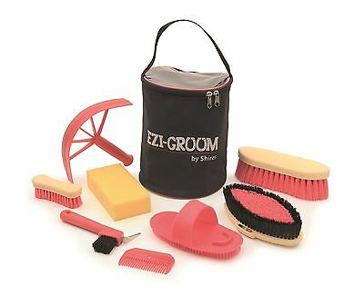 Shires Ezi-Groom Adults Ladies Men Horse Riding Stable Yard Showing Grooming Kit