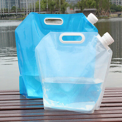 5/10L Litre Portable Folding Water Carrier Storage Lifting Bag Camping Container