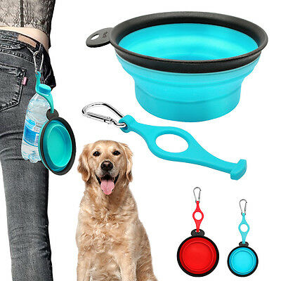 Collapsible Dog Bowl Travel Camping Pet Water Food Bowls Silicone Dish Feeder