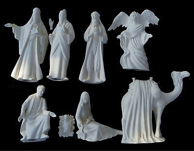 PICK UP ONLY - Ready to Paint Christmas Ceramic Bisque NATIVITY pieces