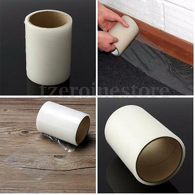125mmx25m Roll Adhesive Carpet Protector Film Floor Protection Dust Cover Sheet