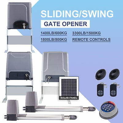 Automatic Sliding Gate Opener 1400lbs Electric Driveway Operator Remotes