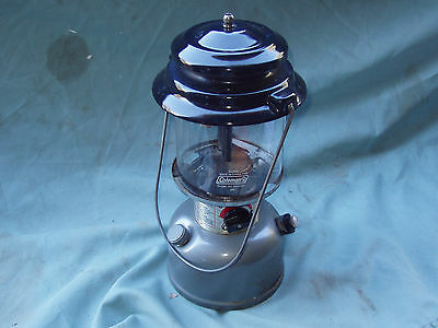 Older Coleman Fuel Lamp,,,mod 295-700T,,,good Glass..will Need Mantles X 2.