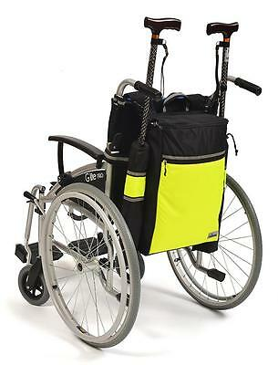 Simplantex Wheelyscoot Hi-vis Wheelchair/Scooter Crutch & Walking Stick Bag
