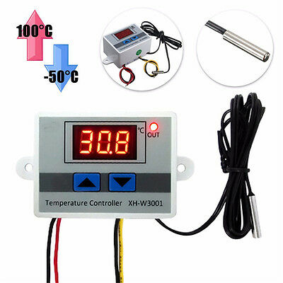 XH-W3001 220V Digital LED Temperature Controller Thermostat Control Switch Probe