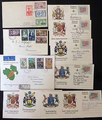 Lot 11 FDC & Cards Rhodesia Nyasaland Bechuanaland South Africa Timbres Stamps