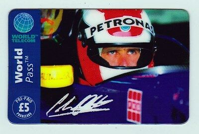Johnny Herbert Sauber Petronas Cock-pit Shot Phone Card