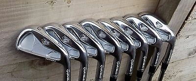 Lightly Used Set of  8 x TaylorMade RAC TP Irons 3-PW S300 Steel Shafts