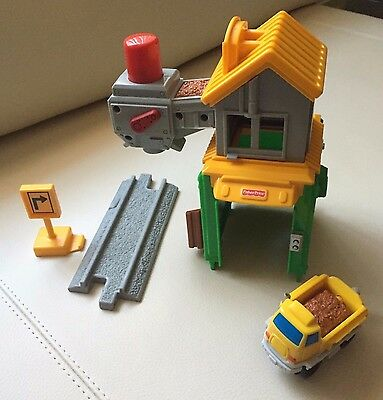 Fisher Price GeoTrax Rail & Road Load 'em Up Gravel Company (#B4340) - Complete