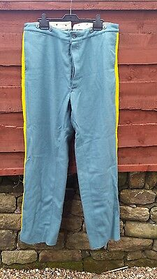american civil war /indian wars nco cavalry trousers blue repro size40 new