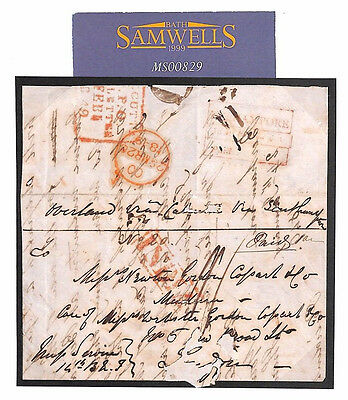 MS829* 1849 INDIA Overland Mail *Barhampore* Letter Forwarded London Acid Faults