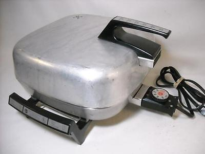 Vtg Hoover 8668 Stainless Steel Electric Skillet Fry Pan W/ Broiler Lid 12 X 12