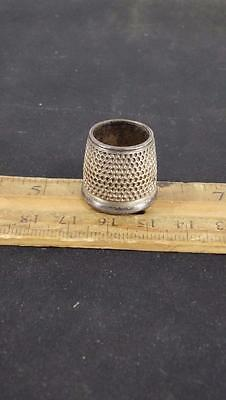 ANTIQUE STERLING SILVER Large THIMBLE #15 10 GRAMS