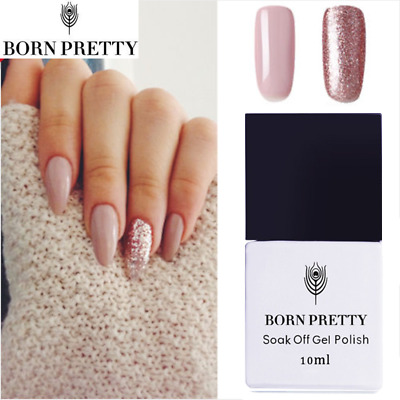 10ml Born Pretty Nail UV Gel Polish Soak Off LED Pink Rose Gold Varnish DIY