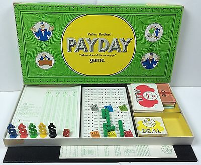 Vintage Payday Board Game Green Box 1974 Parker Brothers