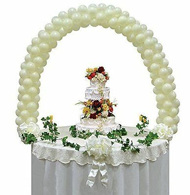 """Balloon Arch Kit Wedding Reception Cake Table Top Display use with 5"""" Balloons"""