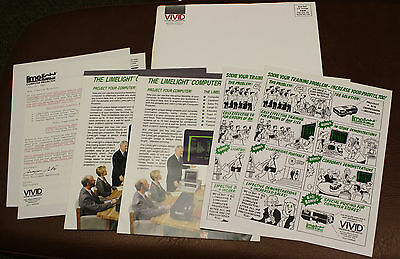 1985 VIVID SYSTEMS LIMELIGHT COMPUTER PROJECTOR Trade Dealer Brochures PRICES