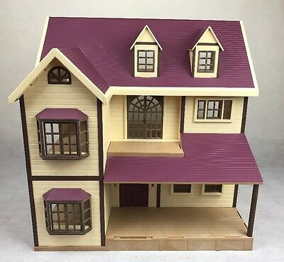 Sylvanian Families Oakwood Manor House Purple + Furniture **FREE UK P&P**