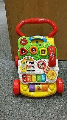 VTech First Steps Baby Walker Toddler Learning Lights Musical Fun Push Activity