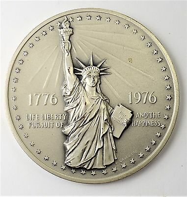 1776-1976 U.S. National Bicentennial Medal - 75mm  Medal in Sterling Silver-RARE