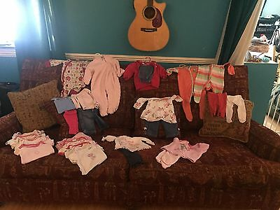 0-3 Months Girls Bundle Of New Born Clothes