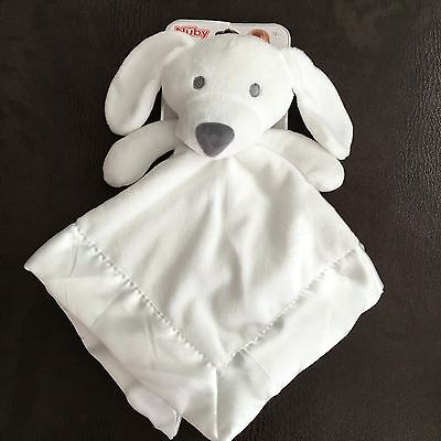 BNWT Nuby White Baby Security Buddy Soft Comforter Blanket