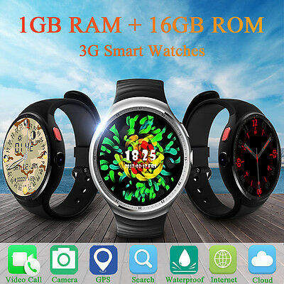 AU LEMFO LES1 Bluetooth 3G Smart Watch Phone 16GB WiFi HD Camera For Android IOS