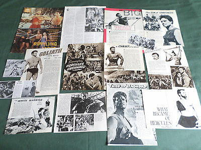 Steve Reeves - Film Star  - Clippings /cutting Pack