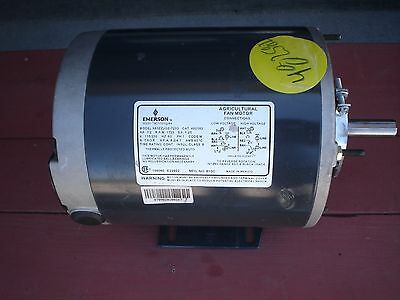 Emerson Agricultural Fan Motor 1/2 HP 1725 RPM 1 PH 115/230~S63ZZJGE-7233 NEW